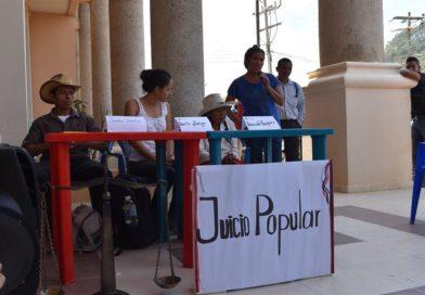 COPINH Informa- Que se ha desarrollado el Juicio Popular del Pueblo Lenca
