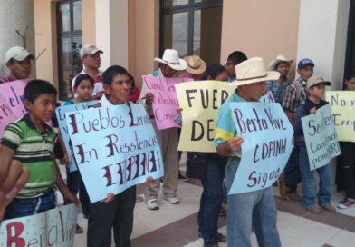 El COPINH ante la impunidad de Martiniano Domínguez Meza.