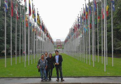 Termina visita del copinh a Ginebra con importantes compromisos de parte de las autoridades de la Organización de Naciones Unidas