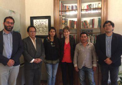 El COPINH se reune con la presidenta del Consejo General de la Abogacía Española