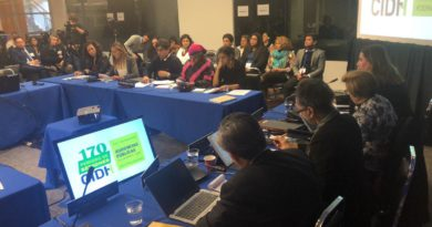 VIDEO Y FOTOS: COPINH en audiencias CIDH, causa de Berta Cáceres