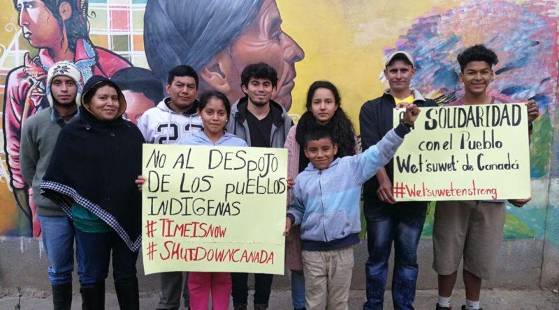 COPINH en solidaridad con el Pueblo Wet'suwet'en de Canada