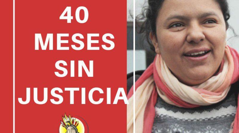 A 40 meses del asesinato de la compañera Berta Cáceres exigimos juicio y castigo para los autores intelectuales del crimen