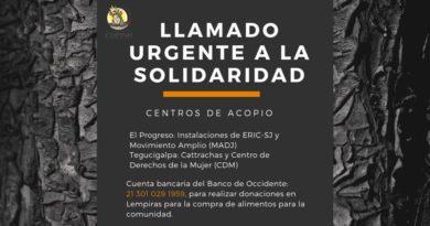 Llamado Urgente a la solidaridad activa.