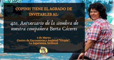 """Acción Global """"Justicia Para Berta"""""""