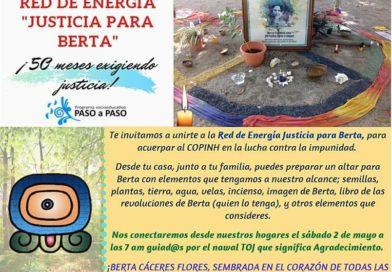 Red de energía «Justicia para Berta»