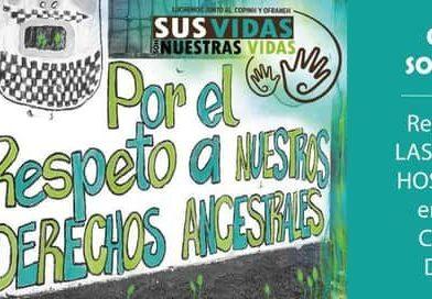 CARTA DE SOLIDARIDAD CON EL COPINH EN CONTRA DE LAS AMENAZAS Y HOSTIGAMIENTO A SU DIRIGENCIA