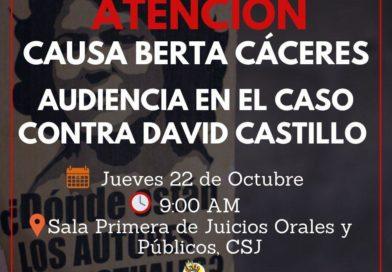 Hoy, audiencia contra David Castillo