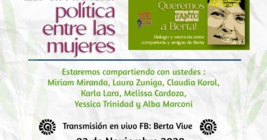 """""""Dialogo y memoria entre compañeras y amigas de Berta."""""""