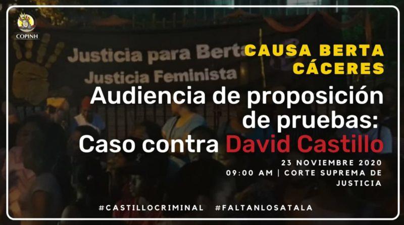 23/11/2020 Audiencia en el caso contra David Castillo