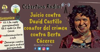 Cobertura desde las radios comunitarias del COPINH del Juicio contra David Castillo