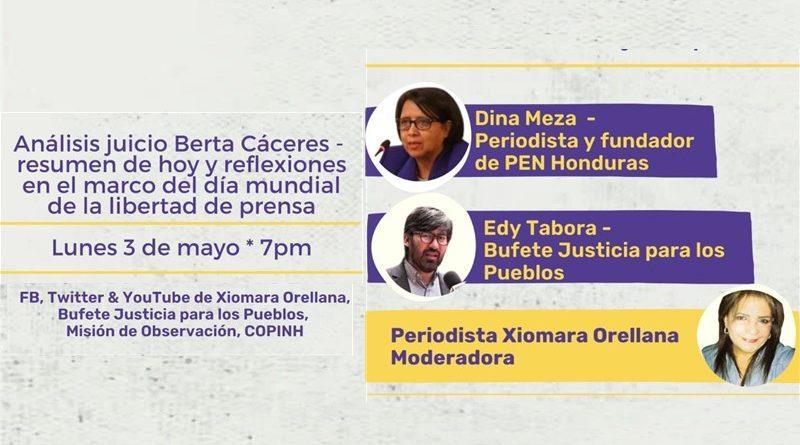 03 de mayo: Análisis juicio Berta Cáceres