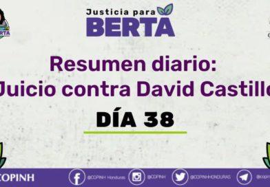 Juicio contra David Castillo: Día 38