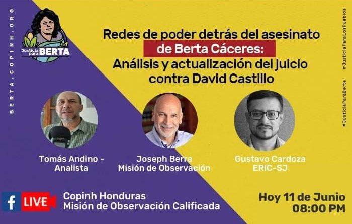 FORO: Redes de poder detrás del asesinato de Berta Cáceres