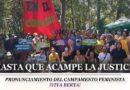 """Hasta que acampe la justicia – Pronunciamiento del Campamento Feminista """"Viva Berta"""""""
