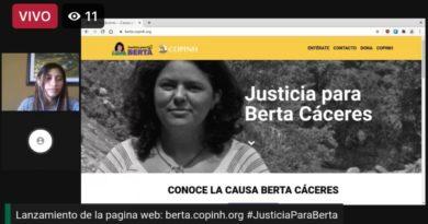 Lanzamiento de la pagina web: Berta.copinh.org