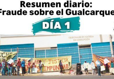 """Juicio """"Fraude sobre el Gualcarque"""" día 1"""