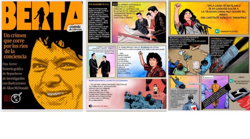 Un comic de Allan McDonald sobre la lucha de Berta Cáceres